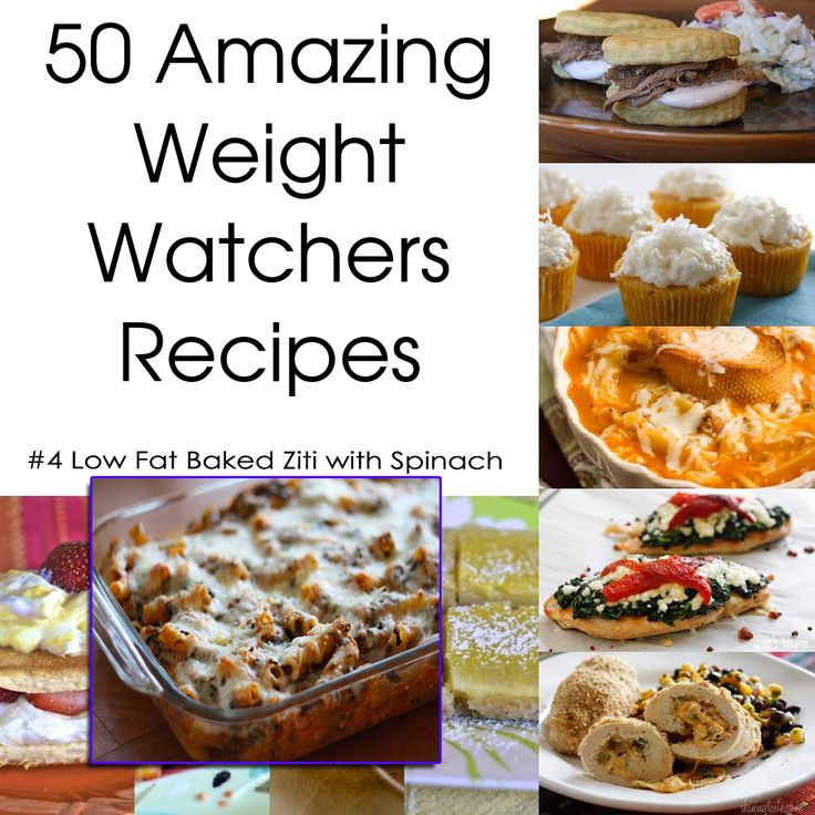 50 amazing weight watchers recipes - Low Fat Baked Ziti with Spinach