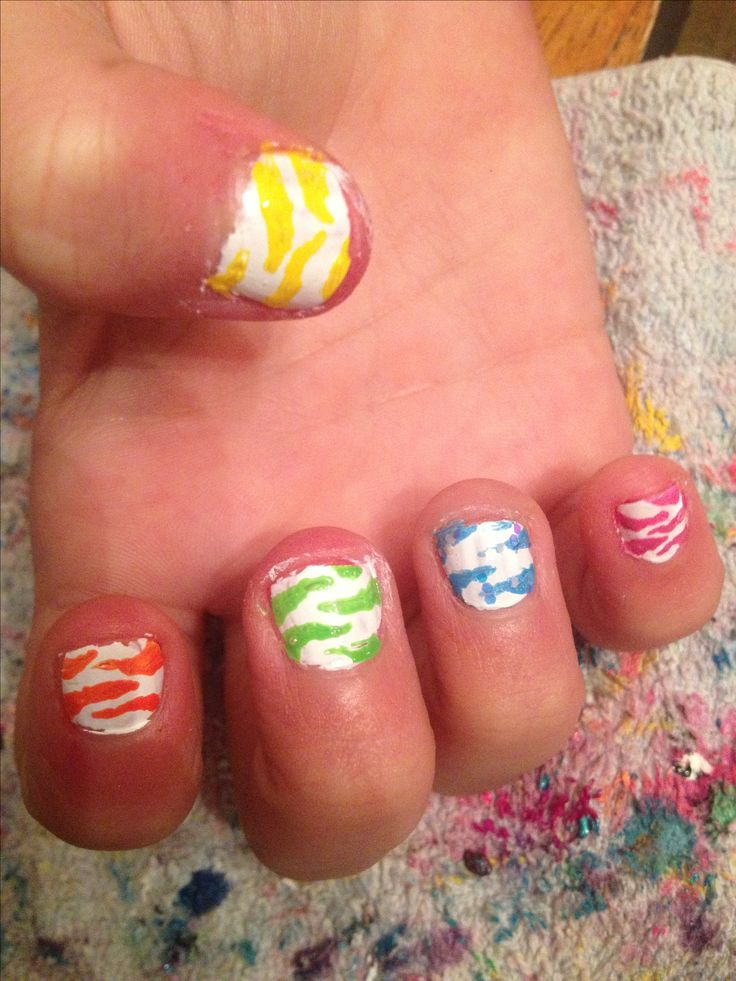 cute little girl nails i did cool nail designs pinterest