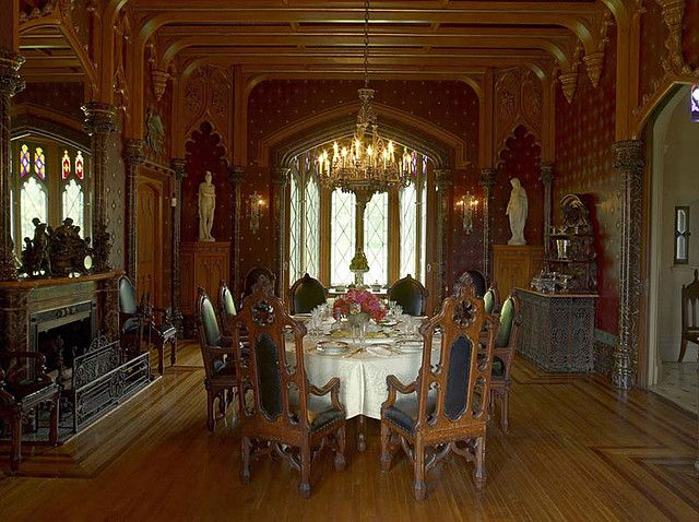 Lyndhurst interior somewhere in time pinterest for Gothic revival interior