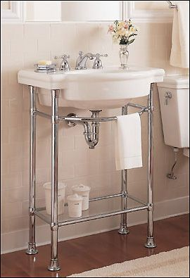 console table sink dream bathroom pinterest
