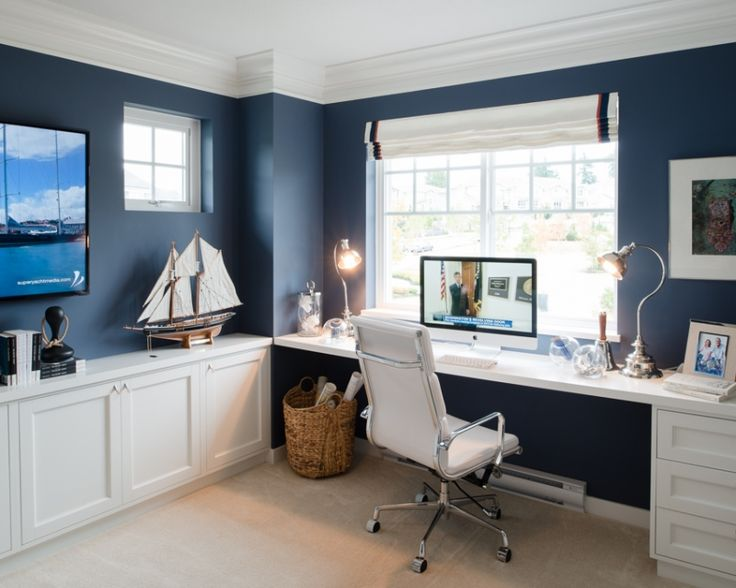 nautical inspired office or study space for the home