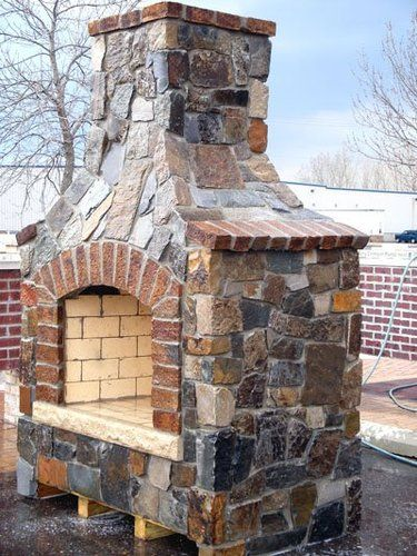 Backyard Fireplace Kits : Outdoor fireplace kit  For the Home  Pinterest