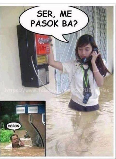 Filipino humor = waterproof
