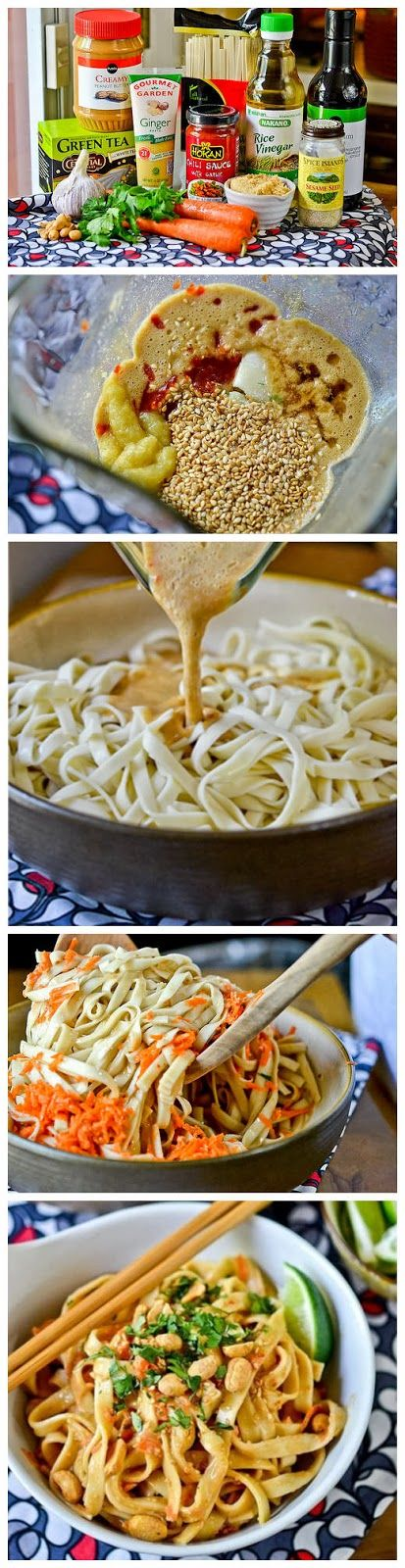 Cold Peanut-Sesame Noodles - Greg loves this. Add extra peanut butter.