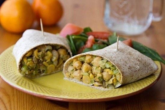 chickpea salad wraps | Food | Pinterest