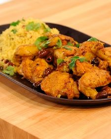 Moroccan Chicken Tagine with Cranberry-Curry Couscous | Recipe