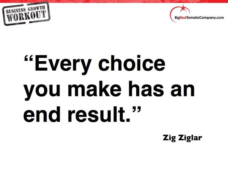 Zig Ziglar You Make Every Choice Has an End Result