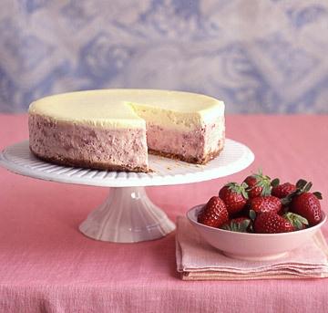 Strawberries-and-Cream Cheesecake | Recipe