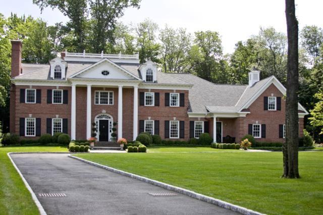 all brick colonial dream house exteriors