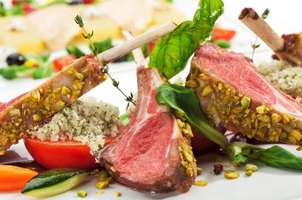 Pistachio Crusted Rack Of Lamb With A Pomegranate Port Sauce Recipes ...