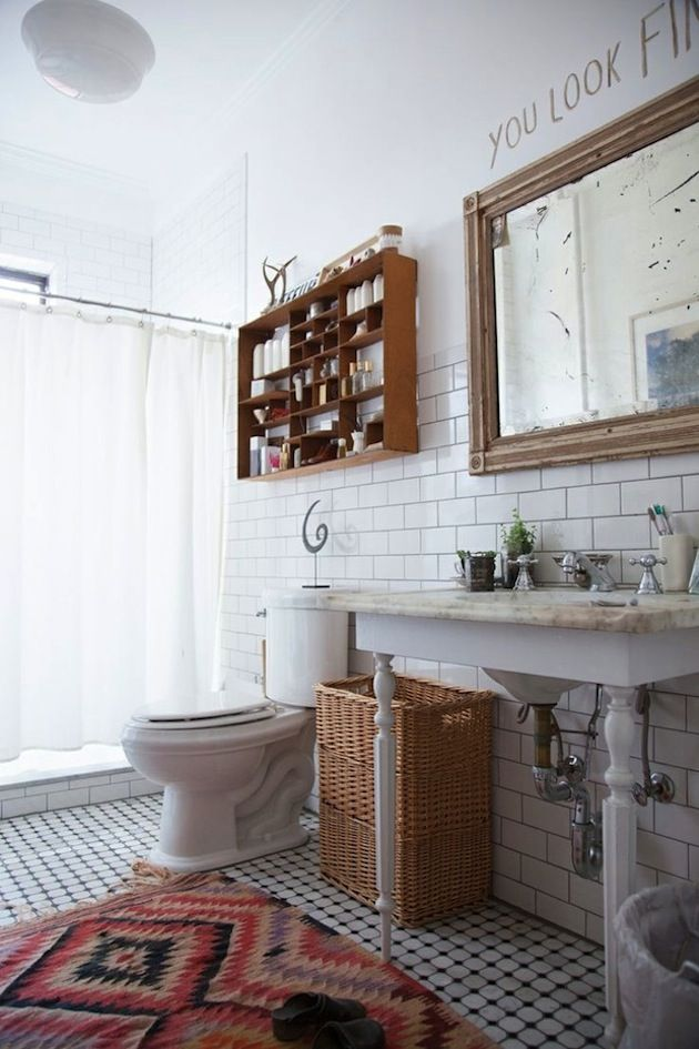 Original Open Shelving In The Bath
