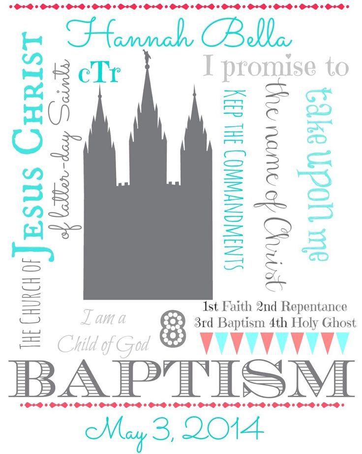 Lds baptism printable   LDS   Pinterest