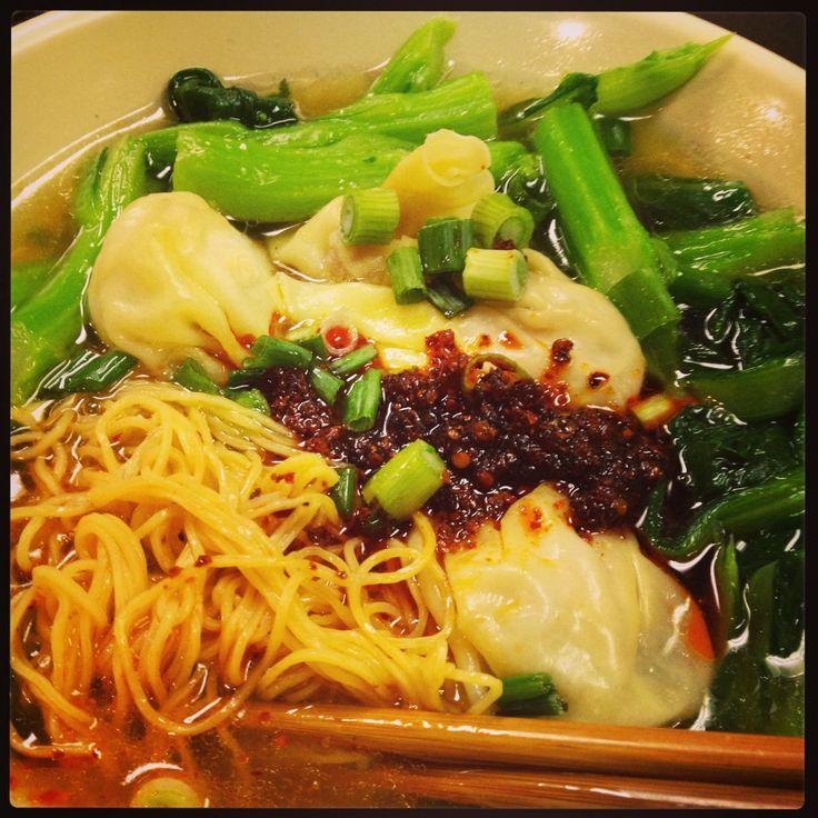 Wonton noodle soup! | Food Cravings | Pinterest