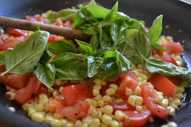 ... Island | Minimal Monday: Pasta with Fresh Corn, Tomatoes and Basil