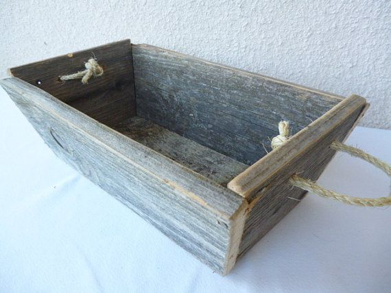Rustic wood box reclaimed wooden box wedding table box - Small rustic wooden boxes ...