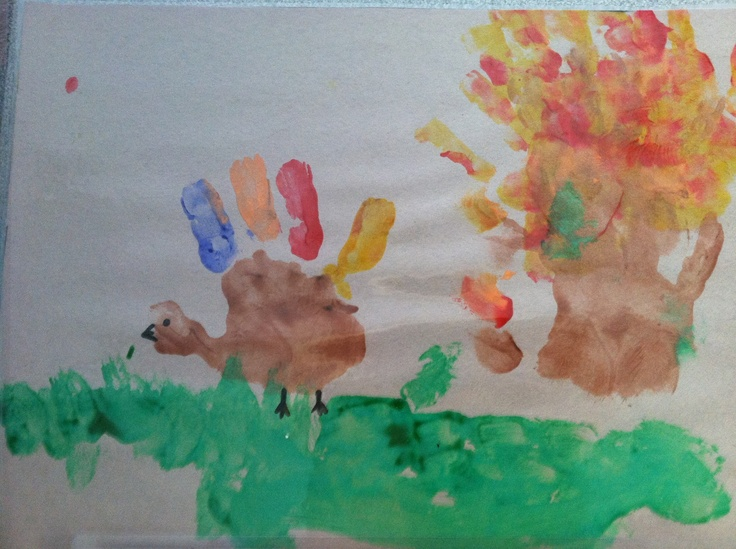 Thanksgiving Placemats Made by Kids