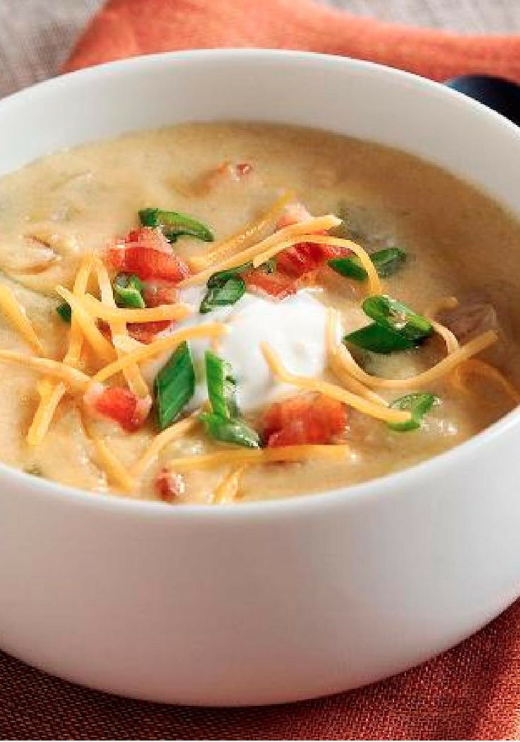 Baked Potato Soup – On top of the heartwarming tastiness of hearty ...