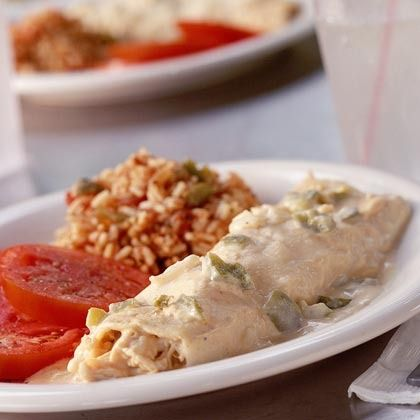Turkey Enchiladas by Cooking Light | Dinner Recipes | Pinterest