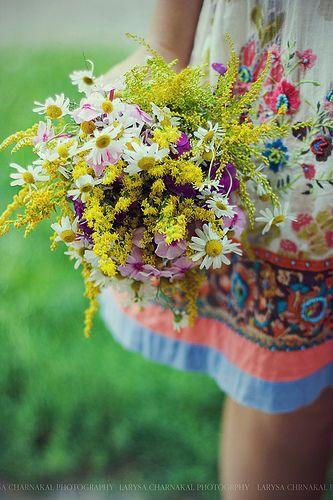 Gathering a fresh bouquet