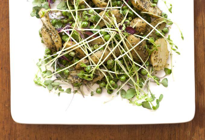 Minted Pea & Potato Salad   catering ideas   Pinterest