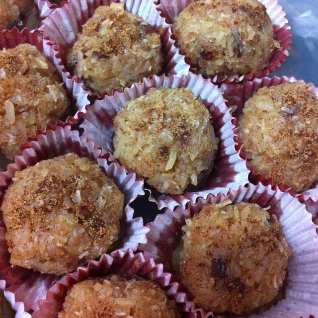 Coconut rice pudding balls. Vegan & gluten free
