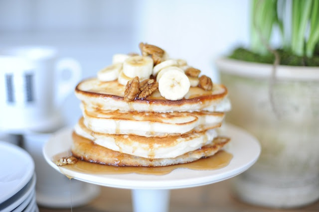 banana pecan pancakes | breakfast/brunch | Pinterest