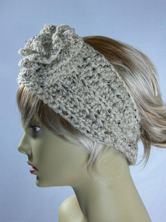 Crochet Ear Warmer : Crocheted Ear Warmer Headband SS064 by SteppingInStyle on Etsy