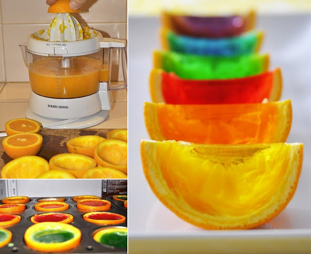 Funny Arts Ands Pictures: How To Make Rainbow Gelatin Orange Wedges