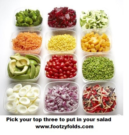 Pick your top 3 to put in your salad!