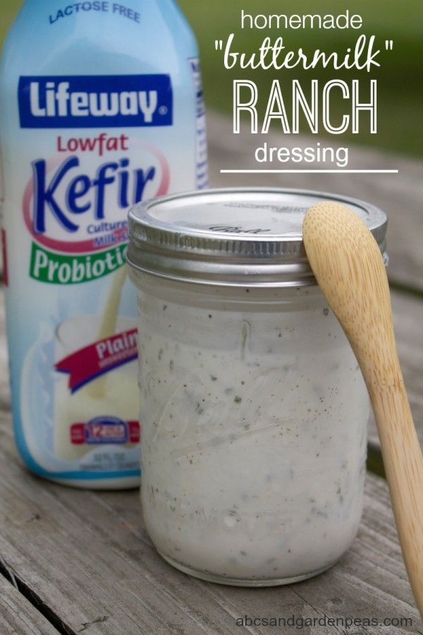 """Homemade """"Buttermilk"""" Ranch Dressing made with Lifeway Kefir for belly-friendly probiotics! #KefirCreations #shop"""
