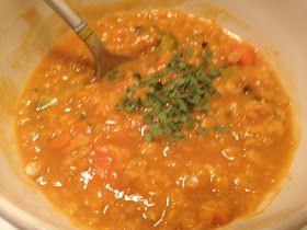 Lauren's Blog: Red Lentil Vegetable Soup (Stew)