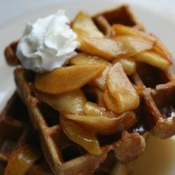 Cinnamon Waffles with Caramelized Apples | Breakfast First! | Pintere ...