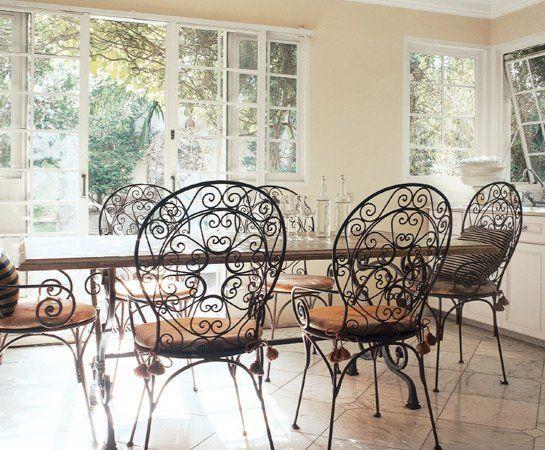 Wrought Iron Bistro Dining Set Furniture Indoor Sets