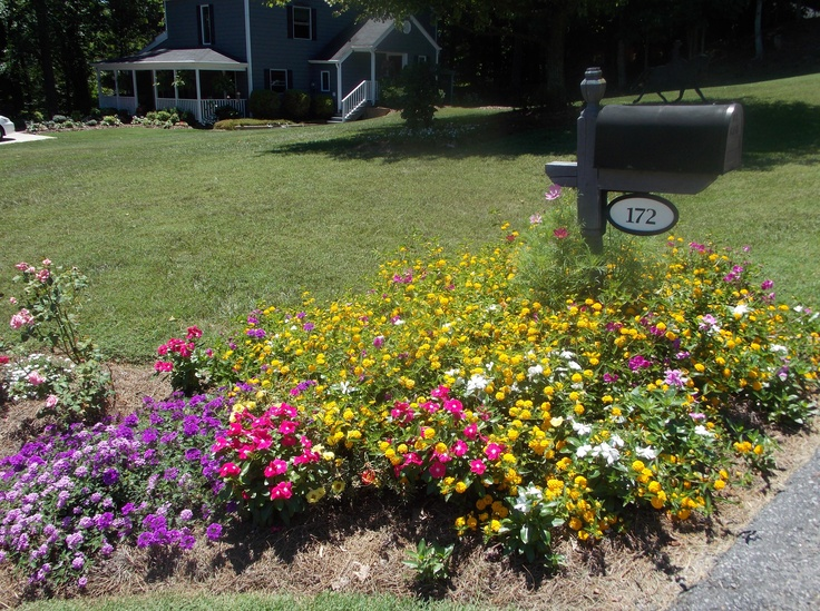 landscaping around mailbox post. Flower Beds Around Mailbox Landscaping Post X