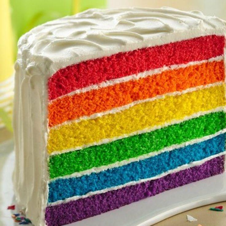 Rainbow layer cake cake decorating pinterest for Decoration layer cake
