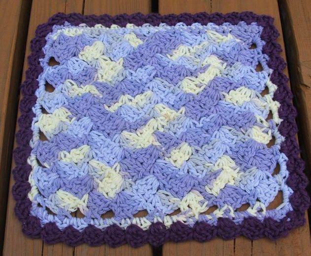 Crochet Dishcloth Pattern : Purple Crochet Dishcloth ~ free pattern PotHolders & Dishcloths P ...