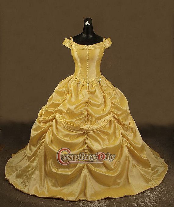 Pin by tabitha adair on beauty and the beast wedding for Wedding dress like belle from beauty and the beast