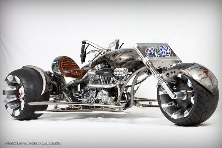Paul jr designs gears of war trike it would scare me to death to see