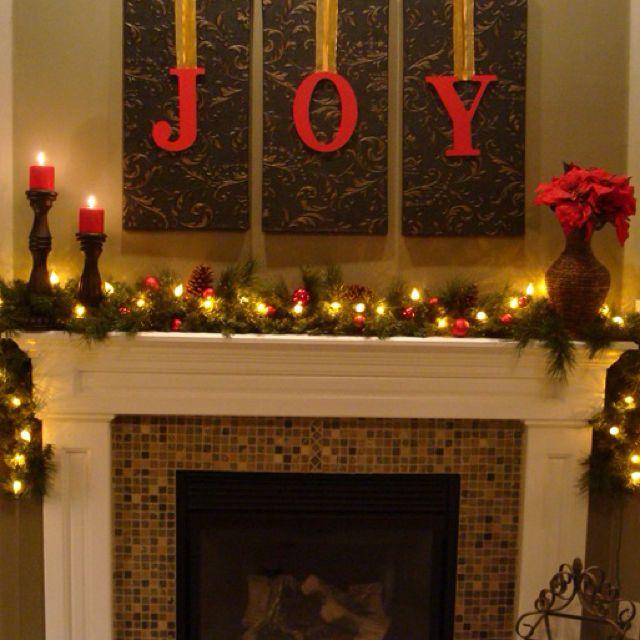 Mantle Decor Christmas Pinterest