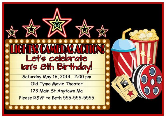 21 count cards movie themed invitations