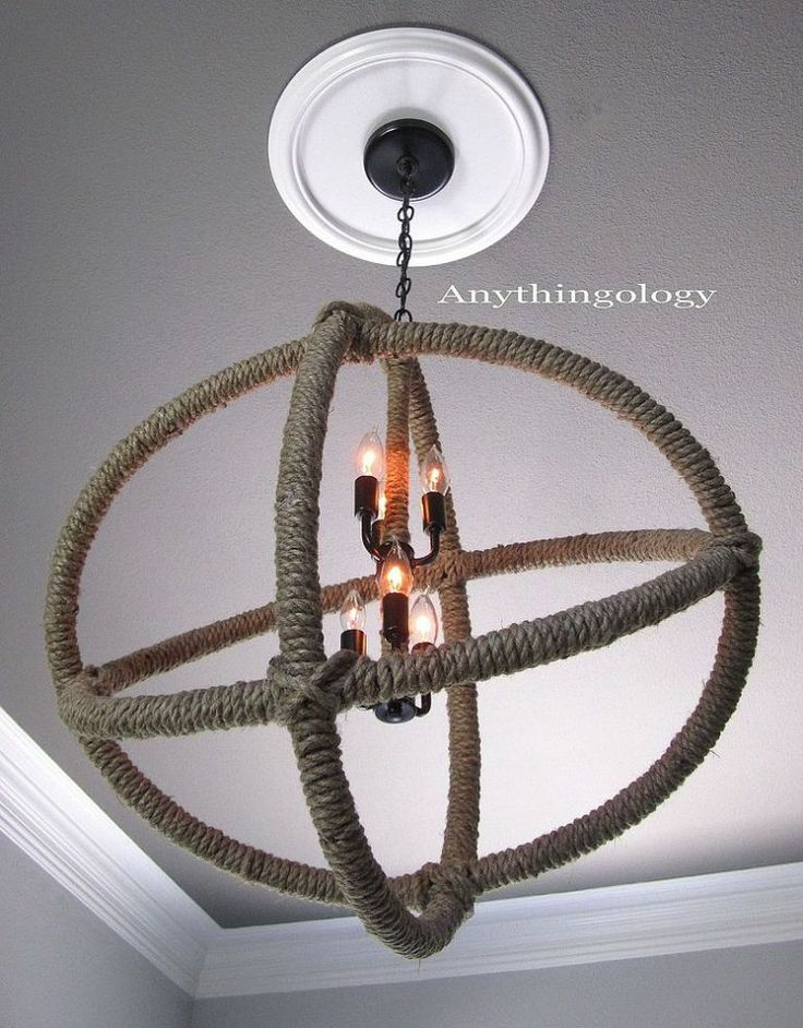 restoration hardware rope planitarium chandelier knock off