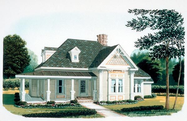 country farmhouse victorian house plan 95582