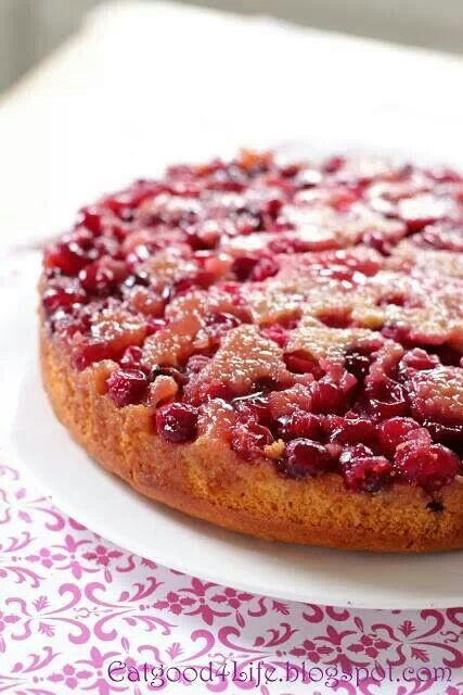 Honey cranberry upside down cake | Christmas receipes | Pinterest