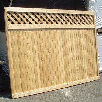 Lattice top decorative fence wooden gates fences pinterest - Decorative wooden fences ...