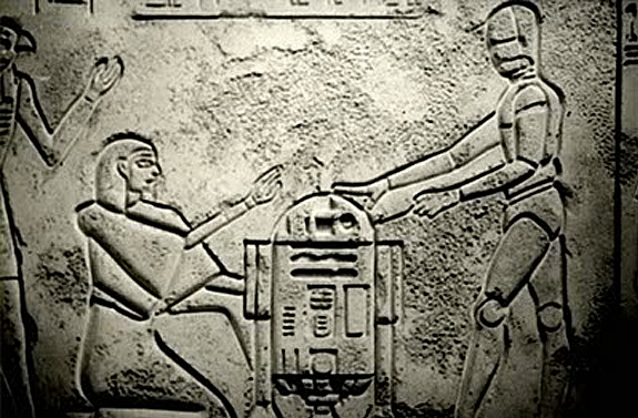 "R2D2 & C3PO in ""Raiders of the Lost"" Well of Souls"