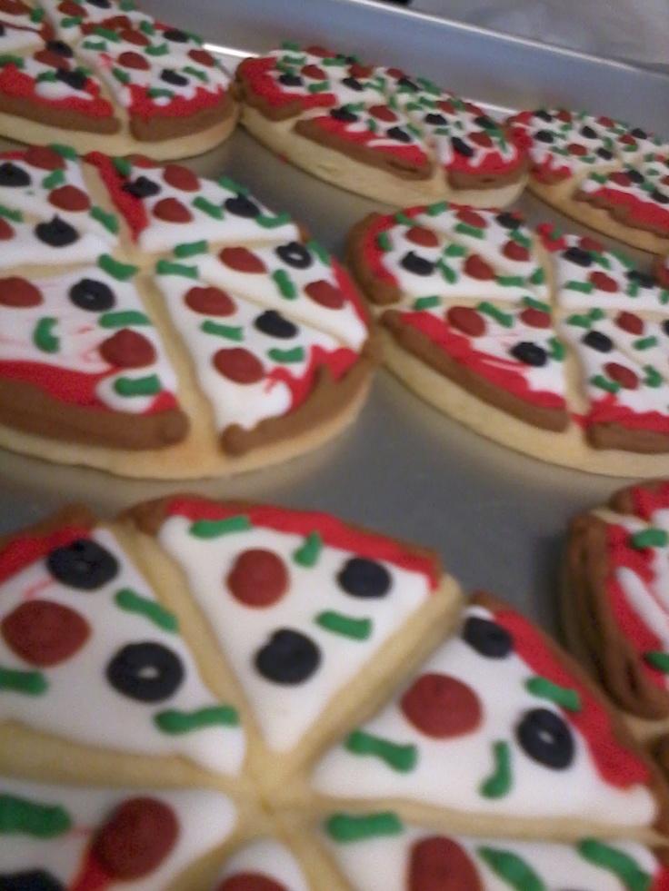 Pizza Birthday Sugar Cookies | Bens birthday | Pinterest