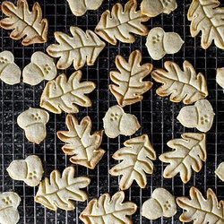 Nutmeg Maple Butter Cookies | The Sweetest Noms!