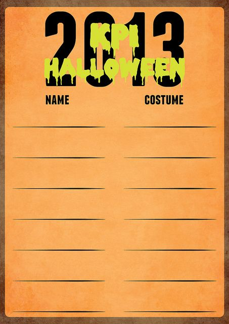 Halloween Sign Up Sheet   design by Elyse Canfield