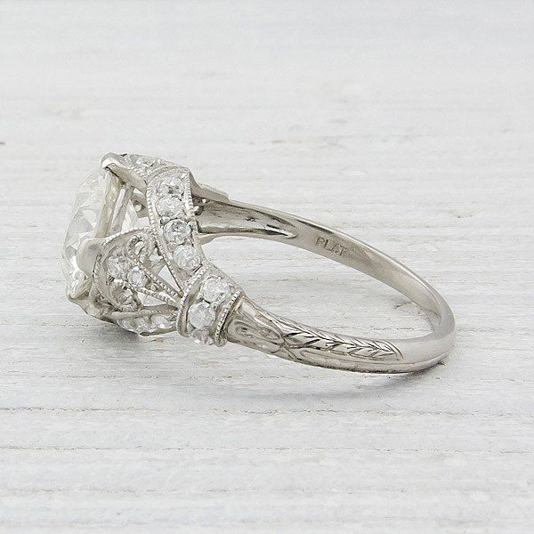2 Carat Vintage Diamond Engagement Ring