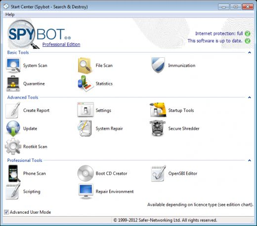 spybot search and destroy portable 2012